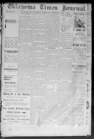 Primary view of object titled 'Okahoma Times Journal. (Oklahoma City, Okla. Terr.), Vol. 5, No. 303, Ed. 1 Thursday, June 7, 1894'.
