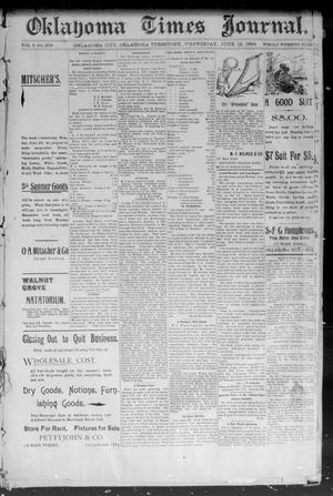 Primary view of object titled 'Okahoma Times Journal. (Oklahoma City, Okla. Terr.), Vol. 5, No. 308, Ed. 1 Wednesday, June 13, 1894'.