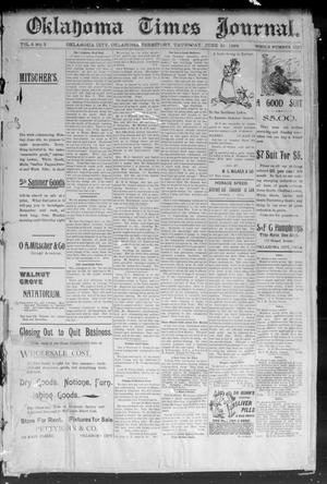 Primary view of object titled 'Okahoma Times Journal. (Oklahoma City, Okla. Terr.), Vol. 6, No. 3, Ed. 1 Thursday, June 21, 1894'.