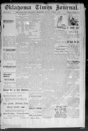 Primary view of object titled 'Okahoma Times Journal. (Oklahoma City, Okla. Terr.), Vol. 6, No. 4, Ed. 1 Friday, June 22, 1894'.