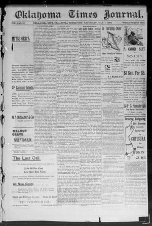 Primary view of object titled 'Okahoma Times Journal. (Oklahoma City, Okla. Terr.), Vol. 6, No. 16, Ed. 1 Saturday, July 7, 1894'.