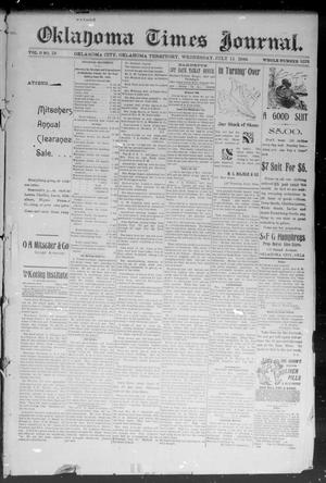 Primary view of object titled 'Okahoma Times Journal. (Oklahoma City, Okla. Terr.), Vol. 6, No. 19, Ed. 1 Wednesday, July 11, 1894'.