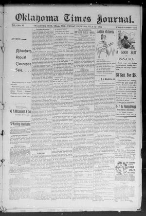 Primary view of object titled 'Okahoma Times Journal. (Oklahoma City, Okla. Terr.), Vol. 6, No. 21, Ed. 1 Friday, July 13, 1894'.