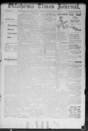 Primary view of object titled 'Okahoma Times Journal. (Oklahoma City, Okla. Terr.), Vol. 6, No. 30, Ed. 1 Tuesday, July 24, 1894'.
