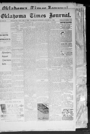 Primary view of object titled 'Okahoma Times Journal. (Oklahoma City, Okla. Terr.), Vol. 6, No. 50, Ed. 1 Thursday, August 16, 1894'.