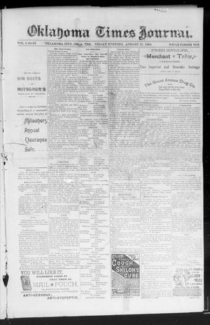 Primary view of object titled 'Okahoma Times Journal. (Oklahoma City, Okla. Terr.), Vol. 6, No. 64, Ed. 1 Friday, August 31, 1894'.