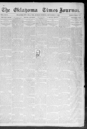 Primary view of object titled 'Okahoma Times Journal. (Oklahoma City, Okla. Terr.), Vol. 6, No. 72, Ed. 1 Monday, September 10, 1894'.