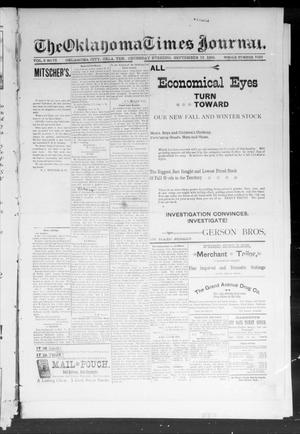 Primary view of object titled 'Okahoma Times Journal. (Oklahoma City, Okla. Terr.), Vol. 6, No. 75, Ed. 1 Thursday, September 13, 1894'.