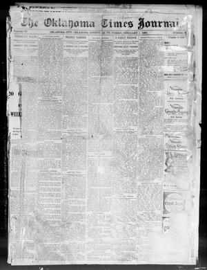 Primary view of object titled 'The Oklahoma Times Journal. (Oklahoma City, Okla. Terr.), Vol. 6, No. 34, Ed. 1 Friday, February 1, 1895'.