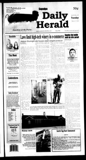 Primary view of Sapulpa Daily Herald (Sapulpa, Okla.), Vol. 95, No. 133, Ed. 1 Tuesday, March 23, 2010