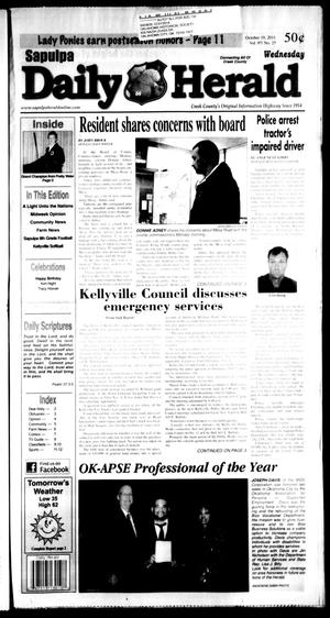 Primary view of object titled 'Sapulpa Daily Herald (Sapulpa, Okla.), Vol. 97, No. 26, Ed. 1 Wednesday, October 19, 2011'.