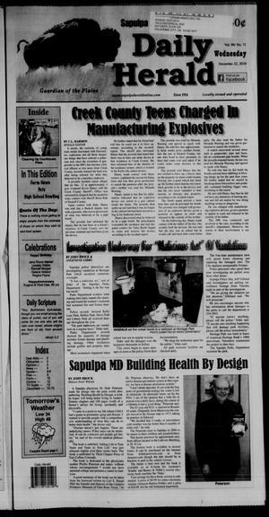 Primary view of Sapulpa Daily Herald (Sapulpa, Okla.), Vol. 96, No. 71, Ed. 1 Wednesday, December 22, 2010