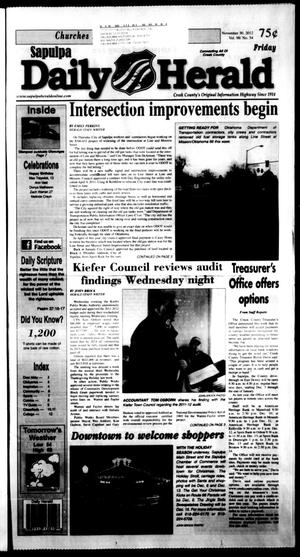 Primary view of Sapulpa Daily Herald (Sapulpa, Okla.), Vol. 98, No. 55, Ed. 1 Friday, November 30, 2012