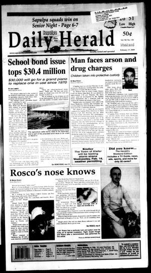 Primary view of Sapulpa Daily Herald (Sapulpa, Okla.), Vol. 94, No. 130, Ed. 1 Sunday, February 15, 2009