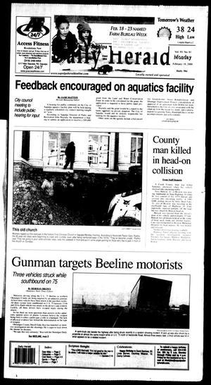 Primary view of Sapulpa Daily Herald (Sapulpa, Okla.), Vol. 93, No. 83, Ed. 1 Monday, February 18, 2008