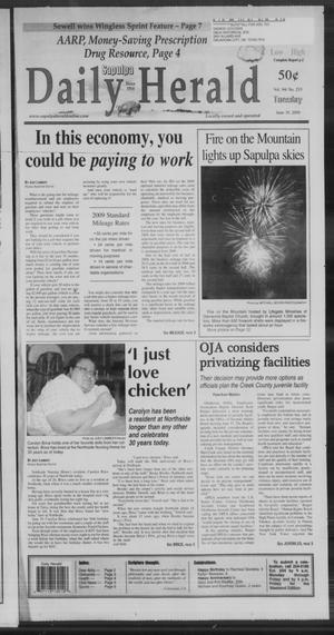 Primary view of Sapulpa Daily Herald (Sapulpa, Okla.), Vol. 94, No. 232, Ed. 1 Tuesday, June 30, 2009
