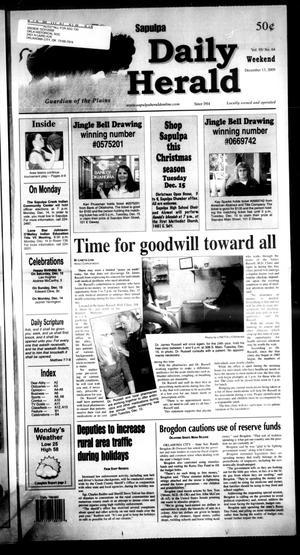 Primary view of Sapulpa Daily Herald (Sapulpa, Okla.), Vol. 95, No. 64, Ed. 1 Sunday, December 13, 2009