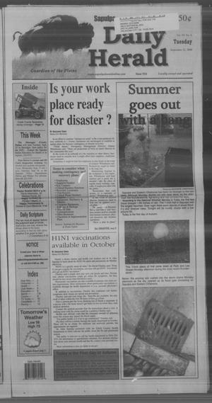 Primary view of Sapulpa Daily Herald (Sapulpa, Okla.), Vol. 94, No. 293, Ed. 1 Tuesday, September 22, 2009