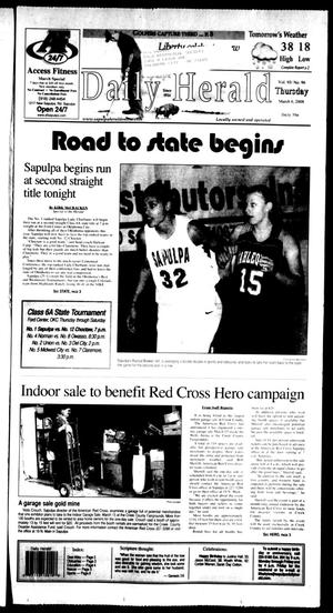 Primary view of Sapulpa Daily Herald (Sapulpa, Okla.), Vol. 93, No. 98, Ed. 1 Thursday, March 6, 2008
