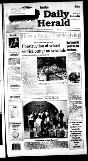 Primary view of Sapulpa Daily Herald (Sapulpa, Okla.), Vol. 95, No. 52, Ed. 1 Wednesday, November 25, 2009