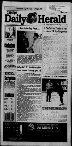Primary view of Sapulpa Daily Herald (Sapulpa, Okla.), Vol. 101, No. 115, Ed. 1 Sunday, April 3, 2016