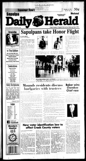 Primary view of Sapulpa Daily Herald (Sapulpa, Okla.), Vol. 97, No. 24, Ed. 1 Sunday, October 16, 2011