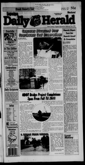 Primary view of Sapulpa Daily Herald (Sapulpa, Okla.), Vol. 96, No. 249, Ed. 1 Sunday, September 4, 2011