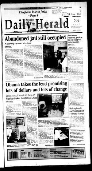 Primary view of Sapulpa Daily Herald (Sapulpa, Okla.), Vol. 94, No. 109, Ed. 1 Wednesday, January 21, 2009
