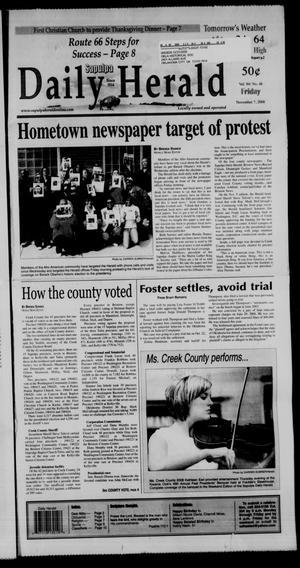 Primary view of Sapulpa Daily Herald (Sapulpa, Okla.), Vol. 94, No. 48, Ed. 1 Friday, November 7, 2008