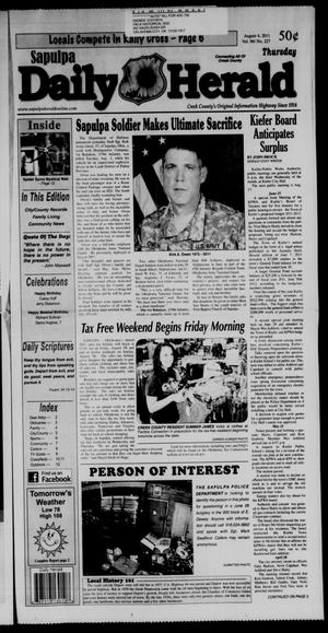 Primary view of Sapulpa Daily Herald (Sapulpa, Okla.), Vol. 96, No. 227, Ed. 1 Thursday, August 4, 2011