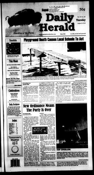 Primary view of Sapulpa Daily Herald (Sapulpa, Okla.), Vol. 95, No. 245, Ed. 1 Thursday, August 26, 2010