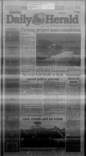 Primary view of Sapulpa Daily Herald (Sapulpa, Okla.), Vol. 98, No. 221, Ed. 1 Friday, August 2, 2013