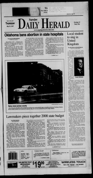 Primary view of Sapulpa Daily Herald (Sapulpa, Okla.), Vol. 92, No. 167, Ed. 1 Thursday, May 24, 2007