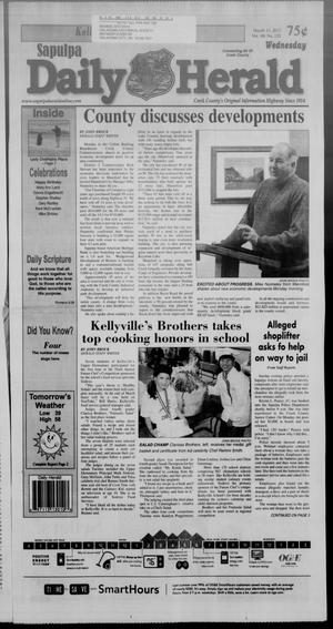 Primary view of Sapulpa Daily Herald (Sapulpa, Okla.), Vol. 98, No. 125, Ed. 1 Wednesday, March 13, 2013