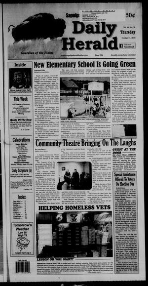 Primary view of Sapulpa Daily Herald (Sapulpa, Okla.), Vol. 96, No. 28, Ed. 1 Thursday, October 21, 2010