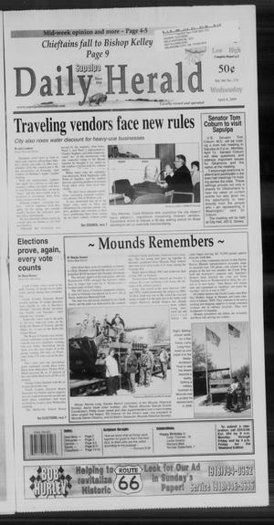 Primary view of Sapulpa Daily Herald (Sapulpa, Okla.), Vol. 94, No. 173, Ed. 1 Wednesday, April 8, 2009