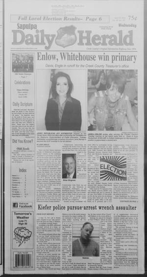 Primary view of Sapulpa Daily Herald (Sapulpa, Okla.), Vol. 99, No. 197, Ed. 1 Wednesday, June 25, 2014
