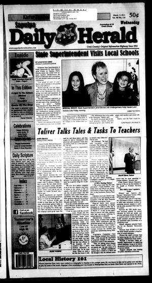 Primary view of Sapulpa Daily Herald (Sapulpa, Okla.), Vol. 96, No. 124, Ed. 1 Wednesday, March 9, 2011
