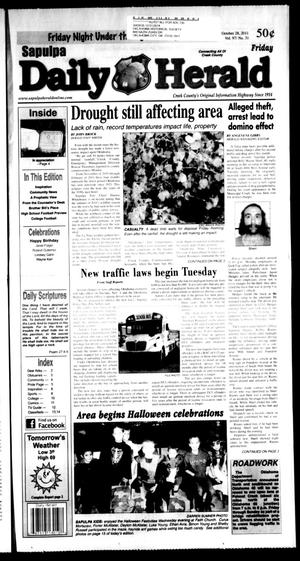 Primary view of object titled 'Sapulpa Daily Herald (Sapulpa, Okla.), Vol. 97, No. 32, Ed. 1 Friday, October 28, 2011'.