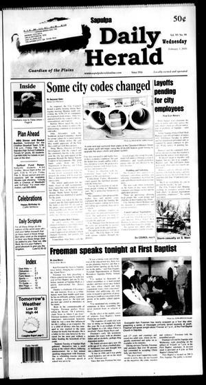 Primary view of Sapulpa Daily Herald (Sapulpa, Okla.), Vol. 95, No. 99, Ed. 1 Wednesday, February 3, 2010