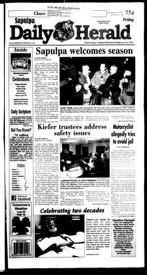 Primary view of Sapulpa Daily Herald (Sapulpa, Okla.), Vol. 99, No. 50, Ed. 1 Friday, November 22, 2013