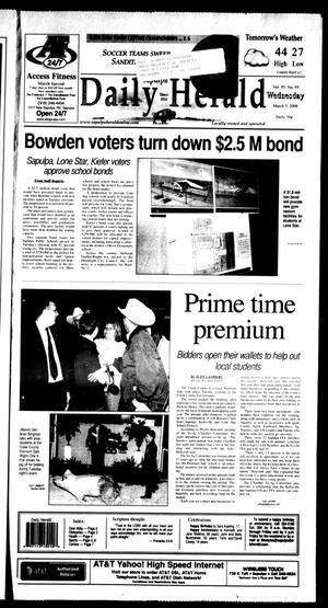 Primary view of Sapulpa Daily Herald (Sapulpa, Okla.), Vol. 93, No. 97, Ed. 1 Wednesday, March 5, 2008