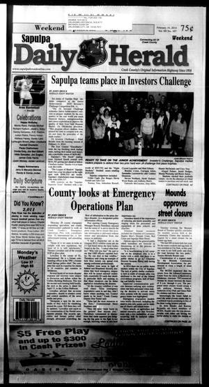 Primary view of Sapulpa Daily Herald (Sapulpa, Okla.), Vol. 99, No. 107, Ed. 1 Sunday, February 16, 2014