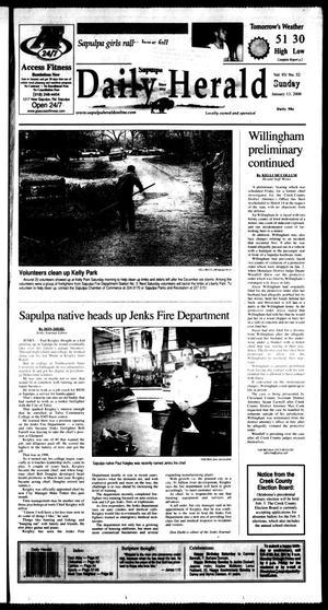 Primary view of Sapulpa Daily Herald (Sapulpa, Okla.), Vol. 93, No. 52, Ed. 1 Sunday, January 13, 2008