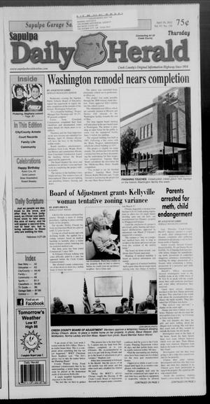 Primary view of Sapulpa Daily Herald (Sapulpa, Okla.), Vol. 97, No. 159, Ed. 1 Thursday, April 26, 2012