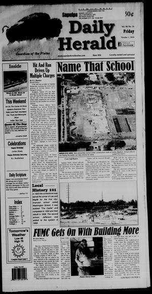 Primary view of Sapulpa Daily Herald (Sapulpa, Okla.), Vol. 96, No. 14, Ed. 1 Friday, October 1, 2010