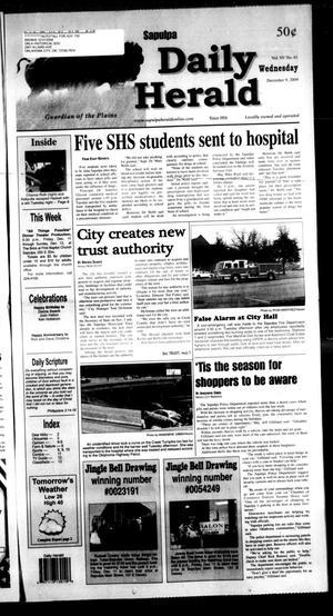 Primary view of Sapulpa Daily Herald (Sapulpa, Okla.), Vol. 95, No. 61, Ed. 1 Wednesday, December 9, 2009