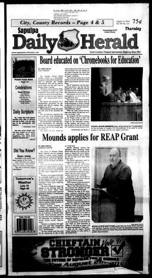 Primary view of Sapulpa Daily Herald (Sapulpa, Okla.), Vol. 99, No. 232, Ed. 1 Thursday, August 14, 2014