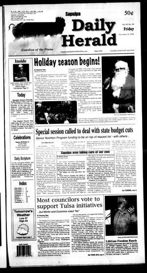 Primary view of Sapulpa Daily Herald (Sapulpa, Okla.), Vol. 95, No. 49, Ed. 1 Friday, November 20, 2009