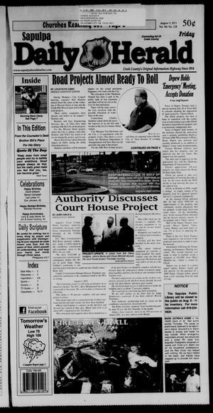 Primary view of Sapulpa Daily Herald (Sapulpa, Okla.), Vol. 96, No. 228, Ed. 1 Friday, August 5, 2011